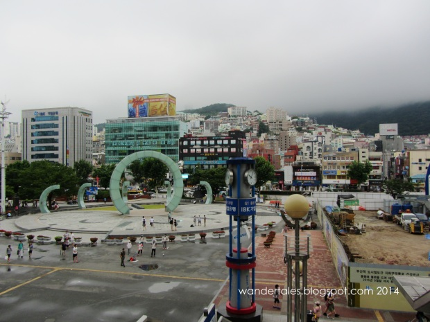Public square outside Busan station